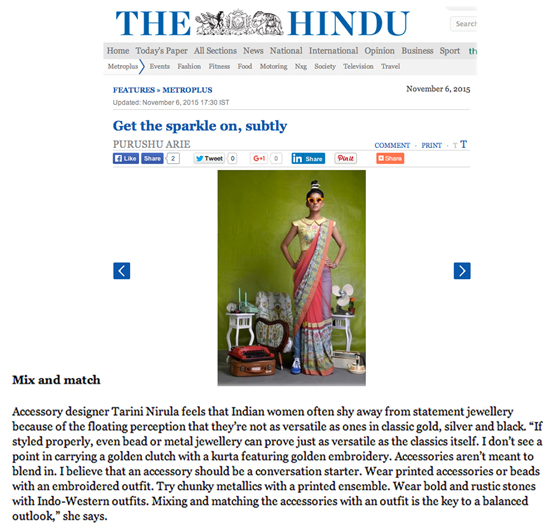 The Hindu, Nov - 2015
