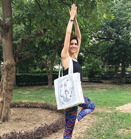 'Yoga Tote' Tree Pose