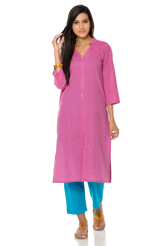 Pink cotton kurta (INDI-320)