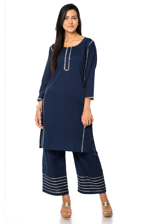 Blue Gota Patti kurta (INDI-302)