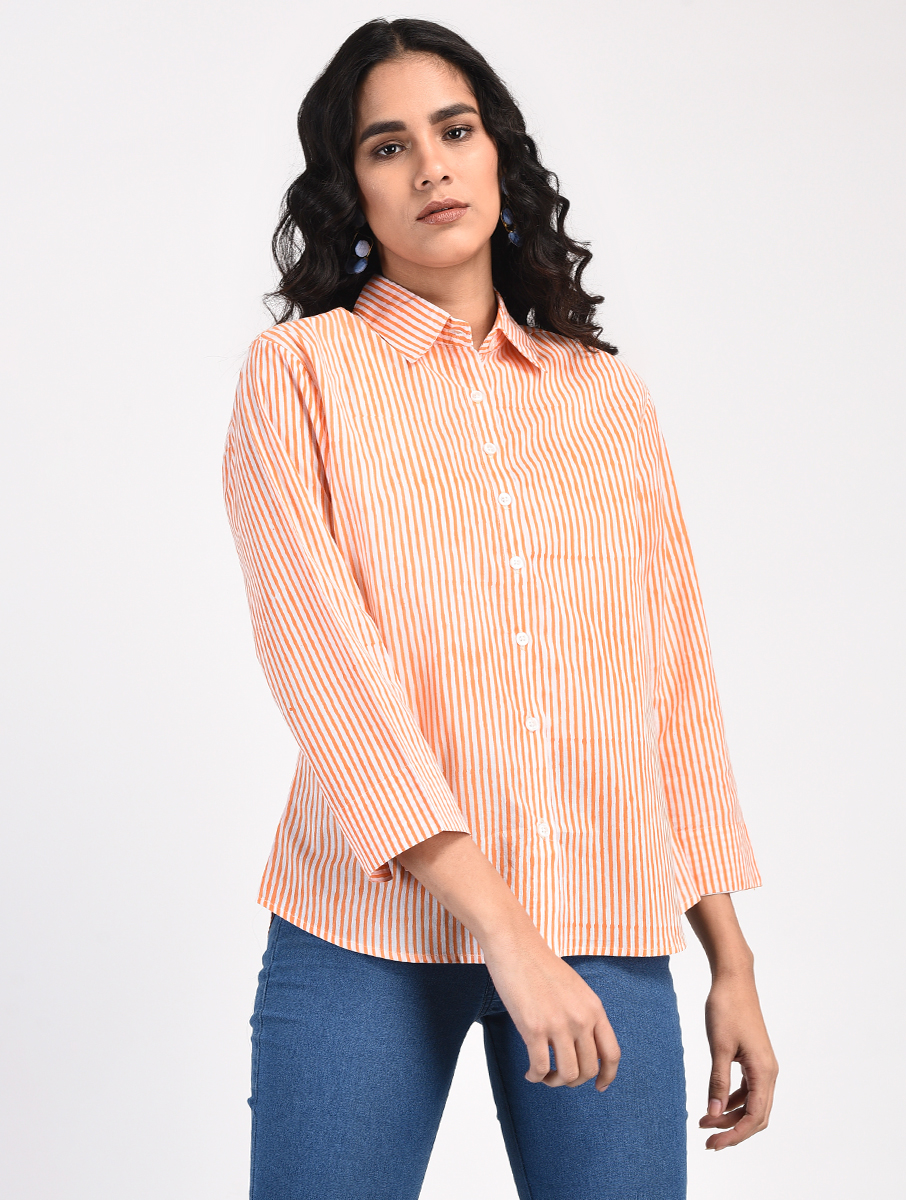 Orange striped shirt (INDI-834)