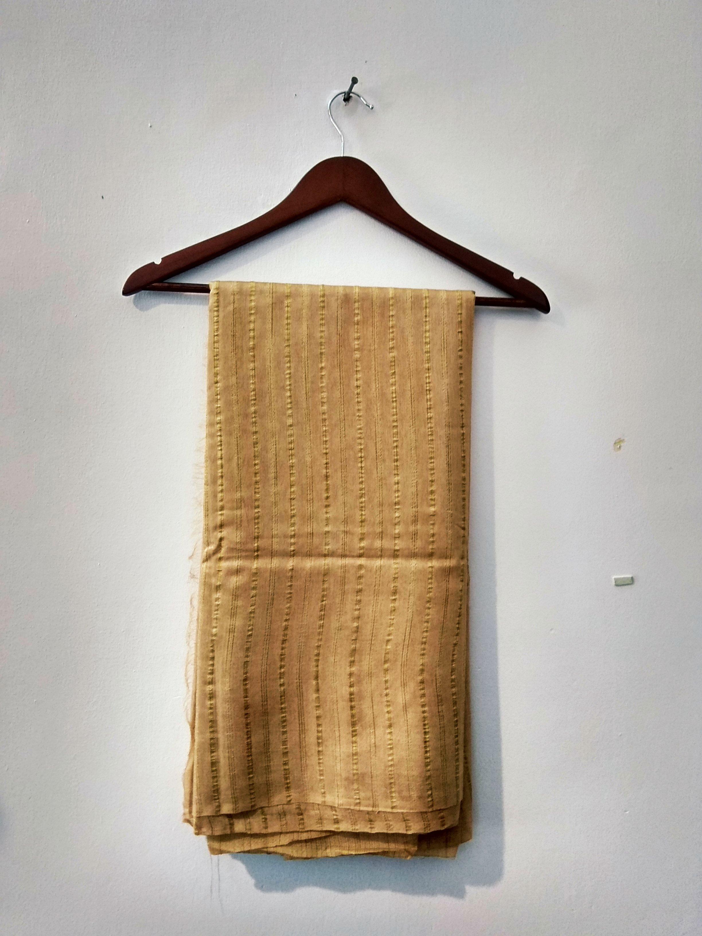 Beige Handloom Bhagalpuri cotton silk saree (INDI-1046)